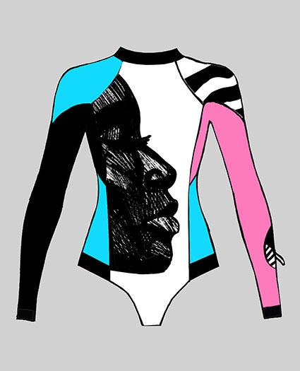 купальник для серфинга с рукавами