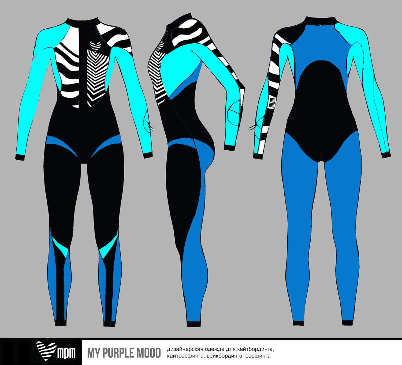 купальник комбинезон fullsuit для серфинга и кайтсерфинга