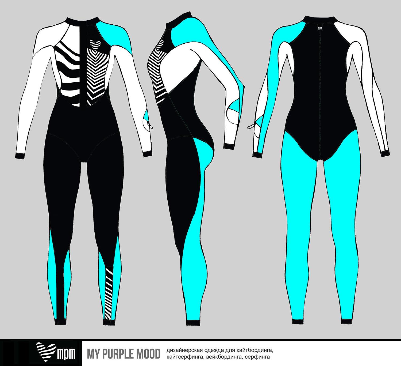 купальник комбинезон для серфинга mypurplemood fullsuit