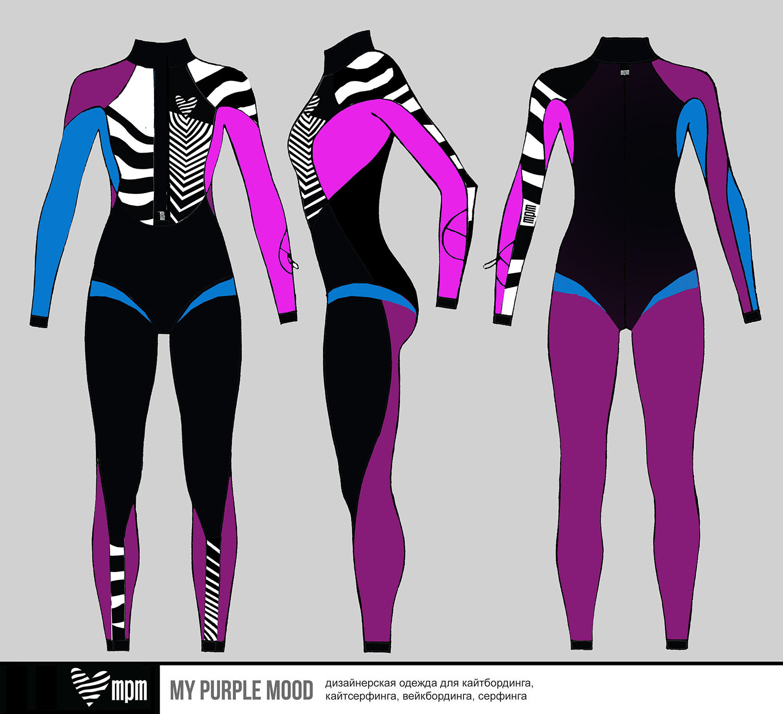 купальник комбинезон fullsuit для серфинга и кайтсерфинга mypurplemood