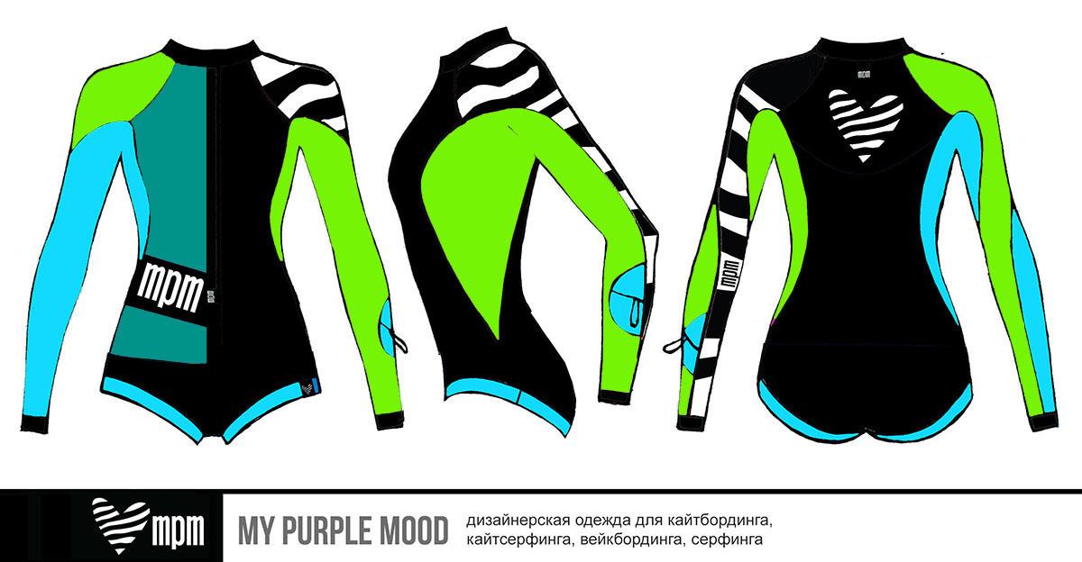 купальник для серфинга и кайтбординга с рукавами MPM